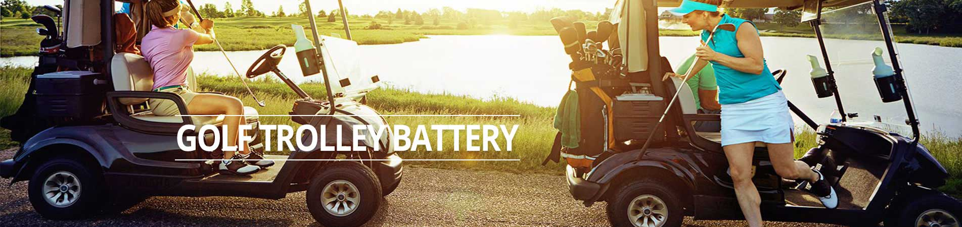 golf trolley battery banner