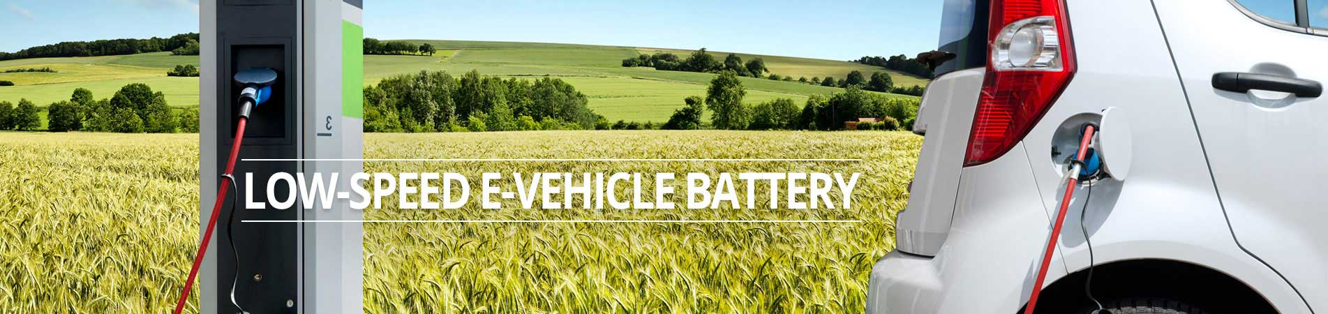 low speed e-vehicle battery banner